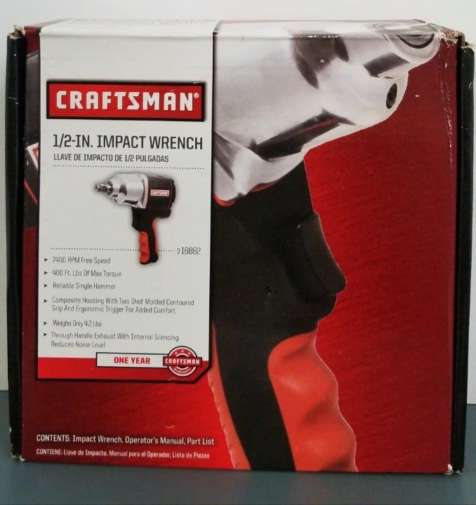 Craftsman 916882 1 2 In Impact Wrench New In Box Impact Wrench Craftsman Wrench