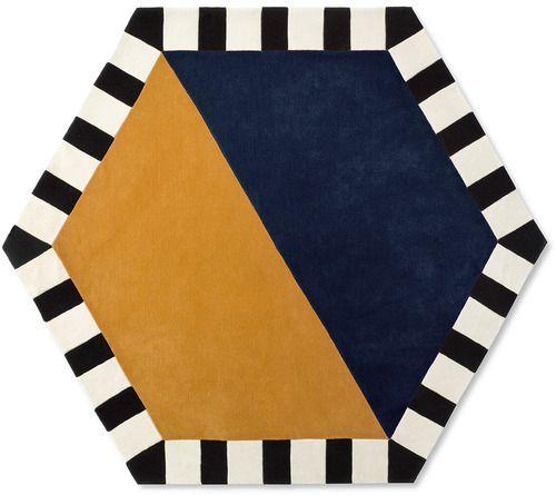 Large Hexagon Area Rug