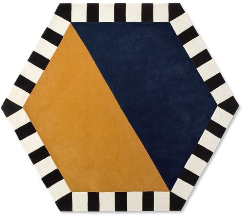 'Large Hexagon Area Rug by Kinder GROUND. @2Modern'