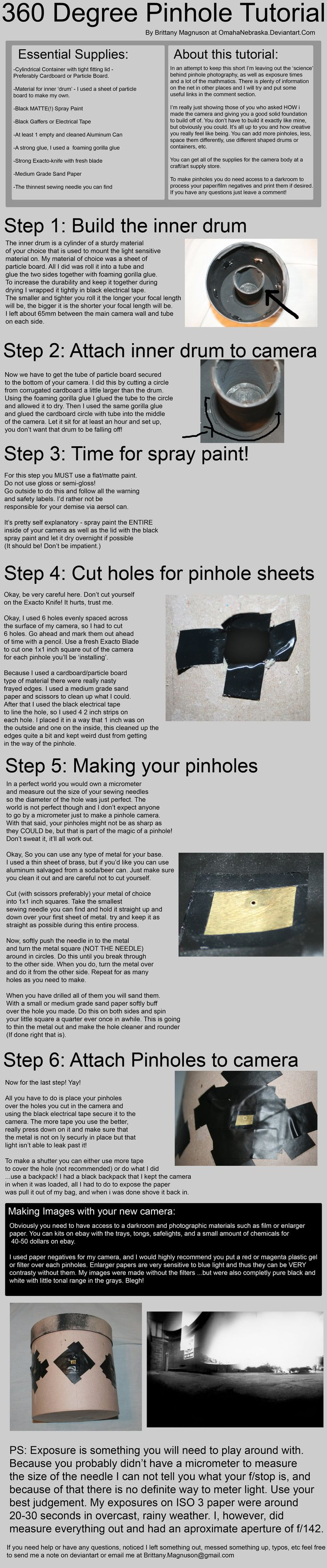 *great tutorial on how to make & use your very own super-retro pinhole camera!! XD by ~OmahaNebraska