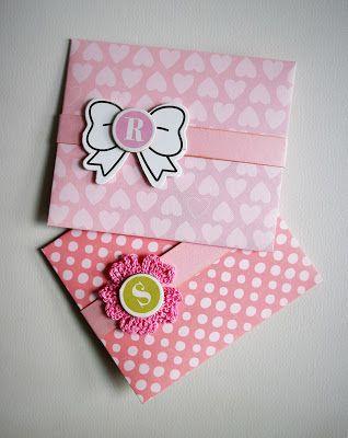 Ручной уголок: Конвертики для дарения денег / Gift envelopes