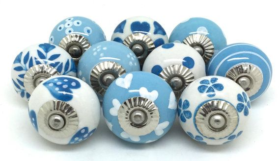 Set of 10 Ceramic Door Knobs Designed By & by ThesePlease on Etsy