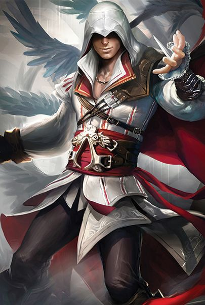 This is a 13*19 inches Poster Printed on Hi-res Gloss Cover Paper. It's durable. Subject : Assassin's Creed 2 Ezio Poster
