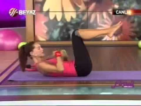 Ebru Şallı Basen Eritme ve Göbek Zayıflama Hareketleri Pilates Egzersizl...