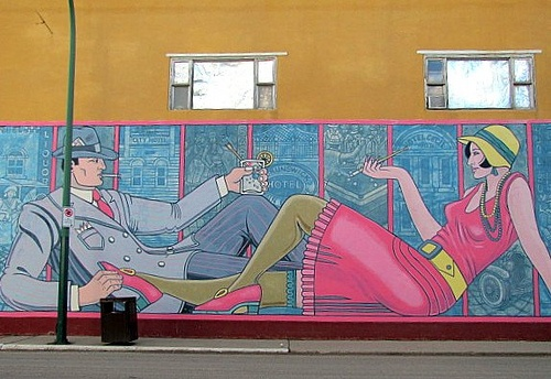Mural in Moose Jaw, Saskatchewan