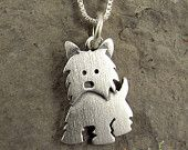 Tiny Westie necklace