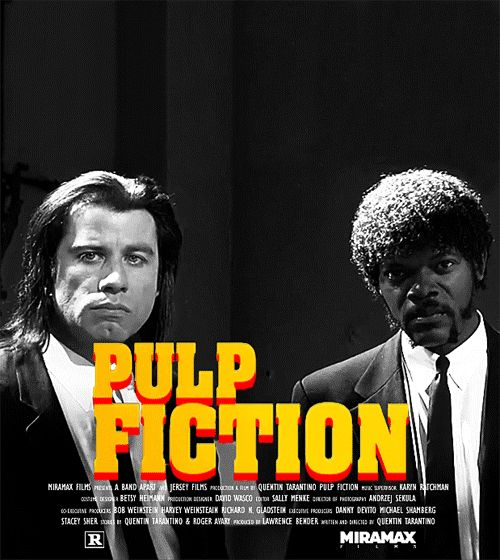 John Travolta and Samuel L. Jackson should exclusively exist in gif form. | 17 Movie Posters Improved With Animation