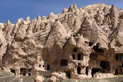 Cave dwellings, rock-cut churches, monasteries and underground cities in Cappadocia, Turkey