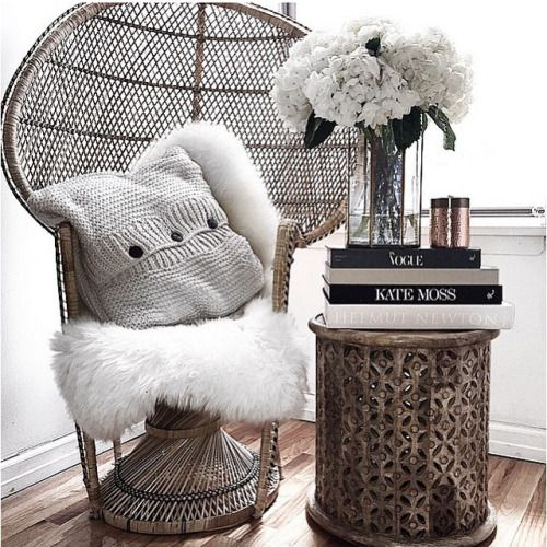 feeling the boho glam vibe today. Thinking about this peacock chair for my meditation space.