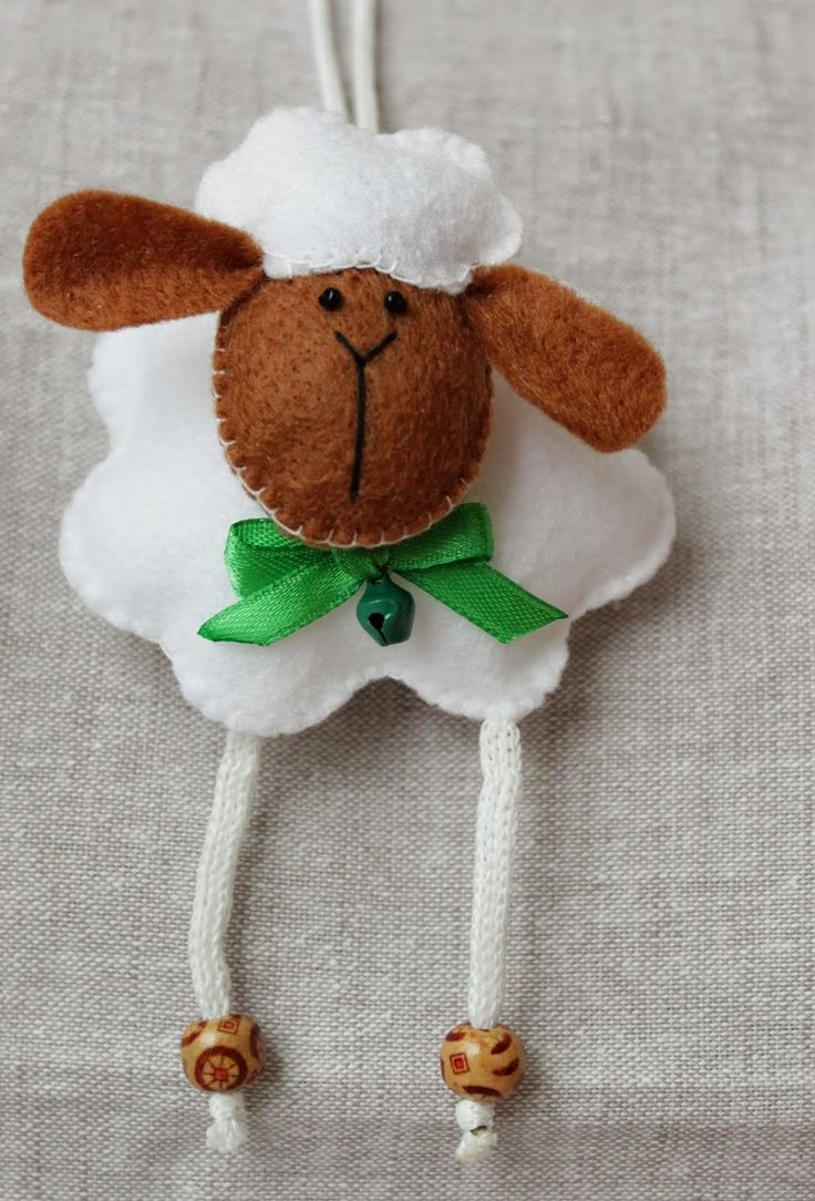 Pinterest sheep felting and for Sheep christmas ornament craft