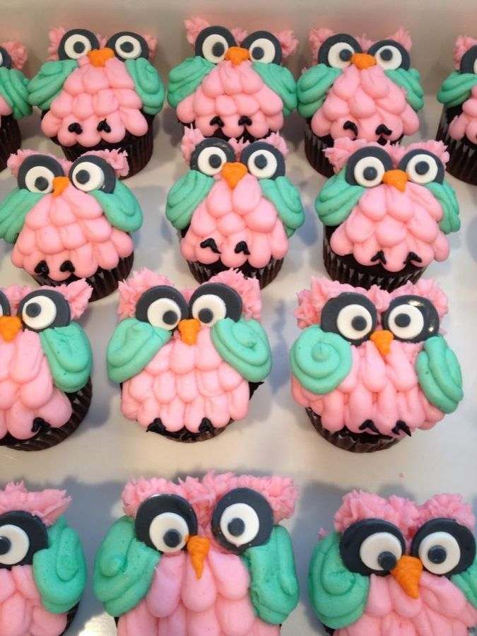 Owl Cupcakes for Owl Themed Baby Shower — Baby Shower
