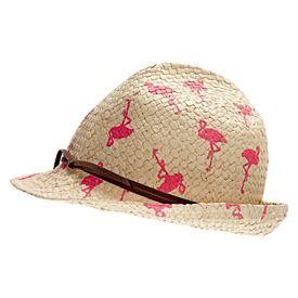 Debut Pink Flamingo Trilby Hat