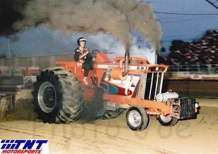 Al Koch D-21 pulling team Allis Cowboy