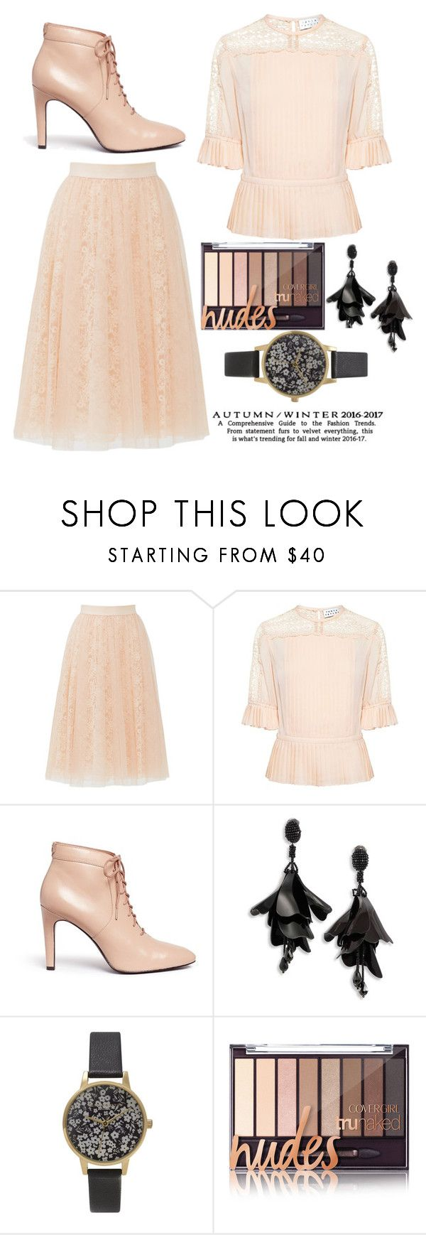 """""""Ladies Loves Coral"""" by panda0805 ❤ liked on Polyvore featuring Bailey 44, Tanya Taylor, Opening Ceremony, Oscar de la Renta and Olivia Burton"""
