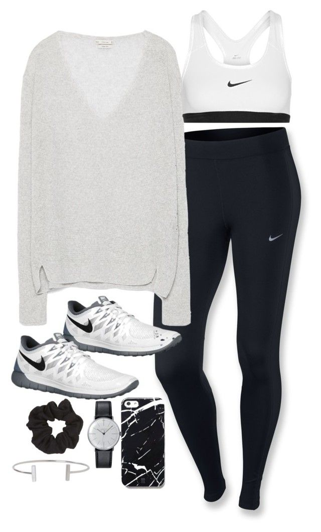 """Sin título #4995"" by marym96 ❤ liked on Polyvore featuring NIKE, Zara, Free People, Klein & more, Topshop and Humble Chic"