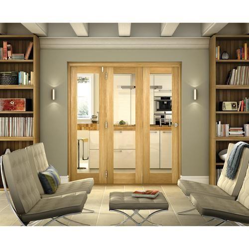 Belgrave 1 Light Internal Folding Doors - Internal Folding  Sliding Doors - Interior Timber Doors -Doors  Windows - Wickes