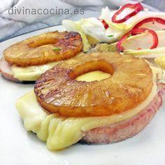 chuletas de cerdo con pina