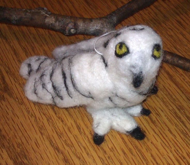 Snowy Owl; 2014; needle felted sculpture by Holly Boone of Polar Lights Art Studio. Currently located at the Alberta Craft Council. - SOLD! http://polarlightsart.wix.com/plas#!hollys-work/cq0w