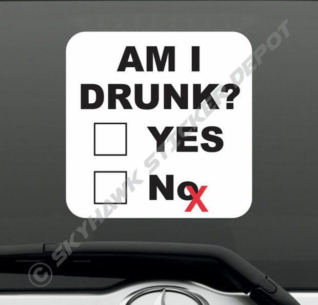 Funny bumper sticker vinyl decal alcohol beer whisky wine macbook laptop