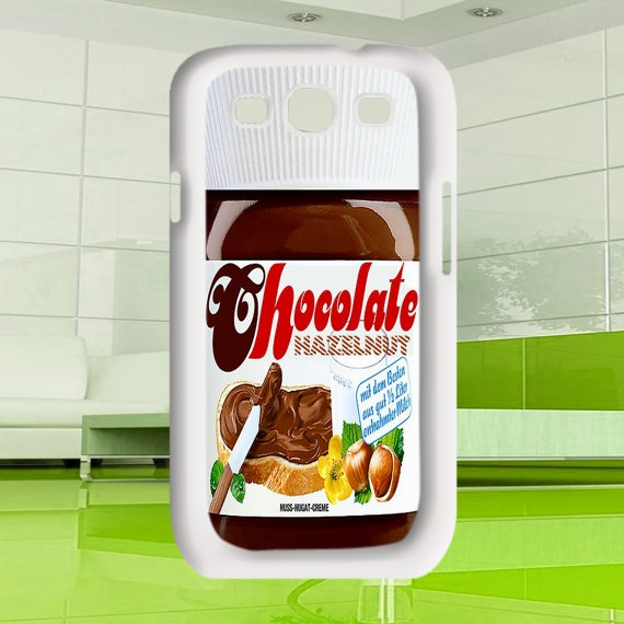 Cool Retro Geek funny cute Nutella chocolate by MuliasCraft, $16.00