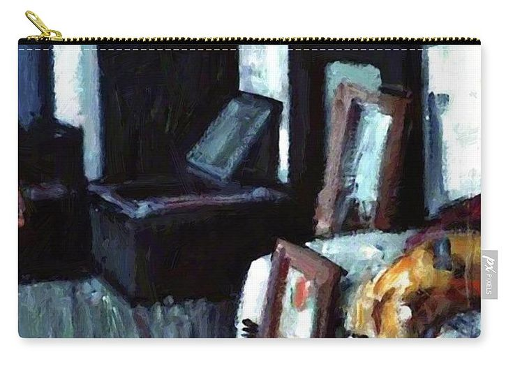 Studio Carry-all Pouch featuring the painting Studio Interior by Peploe Samuel