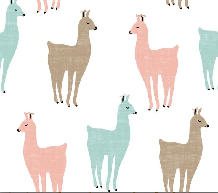 Spoonflower's Llamitas fabric designed by Kimsa - printed on a variety of cotton fabrics - By the yard by Spoonflower on Etsy https://www.etsy.com/listing/272719298/spoonflowers-llamitas-fabric-designed-by