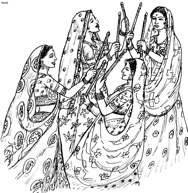 folk dances of india coloring pages indian folk dance dandiya coloring page folk dances