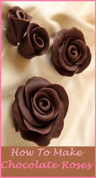 How to make chocoalte roses cupcakepedia, chocolate roses, chocolate rose, DIY chocolate rose, chocolate rose tutorial