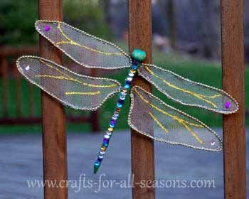 Create a beautiful butterfly for your screened window or garden - full tutorial at Crafts For All Seaasons