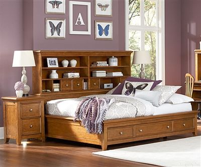 Willow Run Full Sideways Storage Bed Toffee Captains Beds Dorm Room Bedding