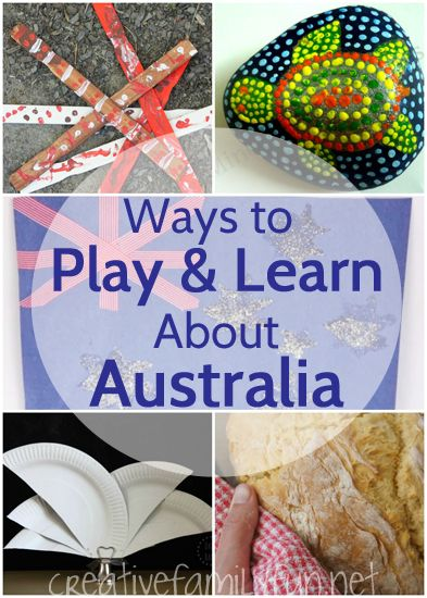 Fun crafts, activities, and recipes to do with your kids for an at-home exploration of Australia.