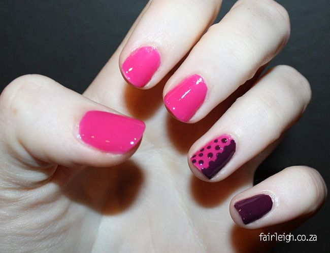 #MidWeekMani - Purple Dotty - FairLeigh - The Girlier Side of a Geek