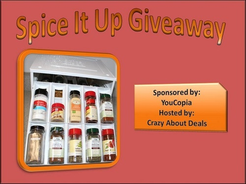 Spice it up #Giveaway  http://www.crazyaboutdeals.com/youcopia-spice-it-up-giveaway/