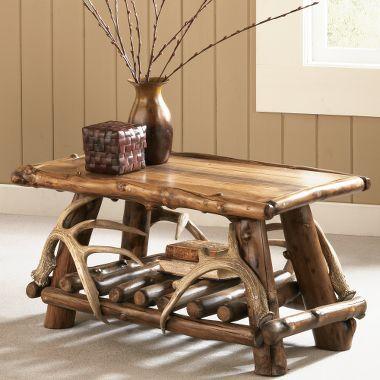 Mountain Woods Rustic Lodge Coffee Table