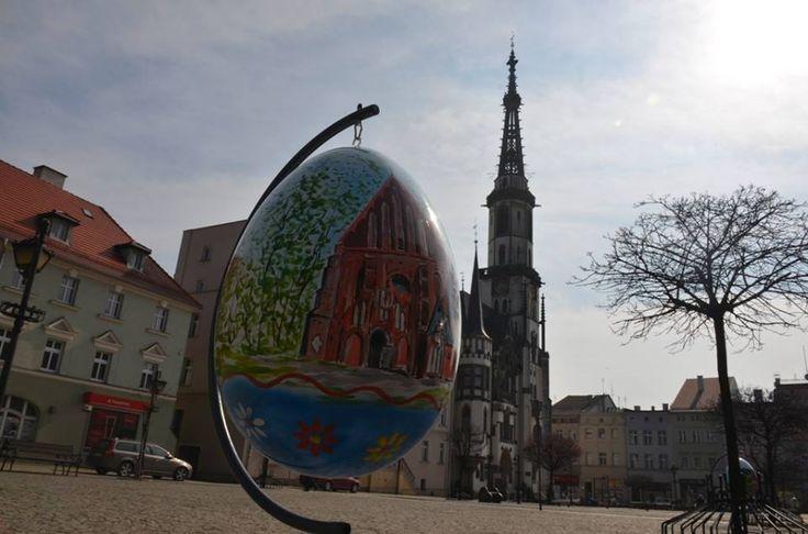 Pisanka z Frankensteinem   Inspirowani Naturą I large eggs easter decor for pubic spaces terra group