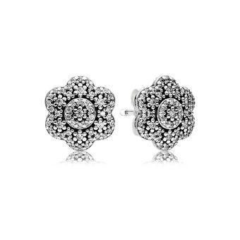 Crystallised Floral Earring Studs