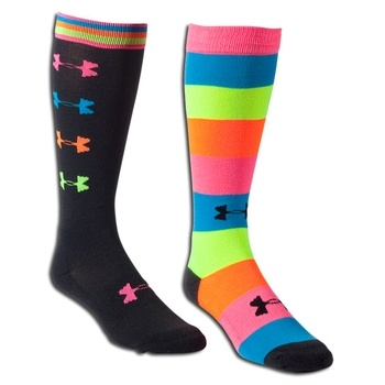 Under Armour Women's Recur Over the Calf Sock 2 Pack in Main Spring 2 2013 from Soccer.com on shop.CatalogSpree.com, my personal digital mall.