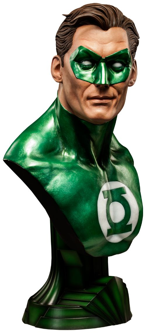 Green Lantern Life-Size Bust was released in May 2014 by Sideshow Collectibles. It was available as a limited edition of 3500 pieces online for $679.99.