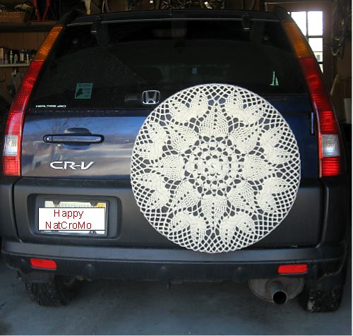 Crocheted Car Tire Cozies!