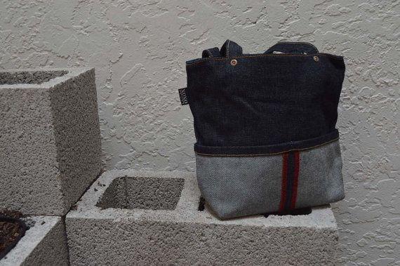XOXO Denim Tote Bag
