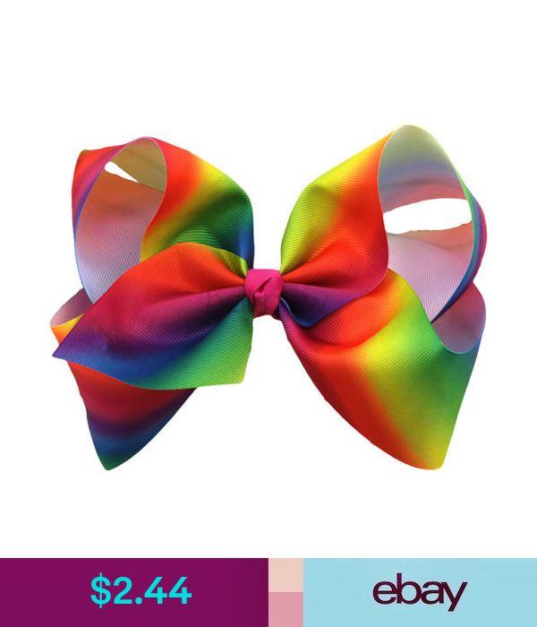 1Pc 8 inch Girls Rainbow Hair Accessories Alligator Clip Baby Kids Haircilps