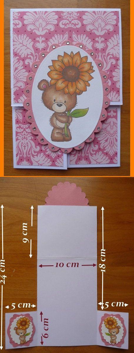 Carte à trois volets faite sur le principe de la carte double dutch