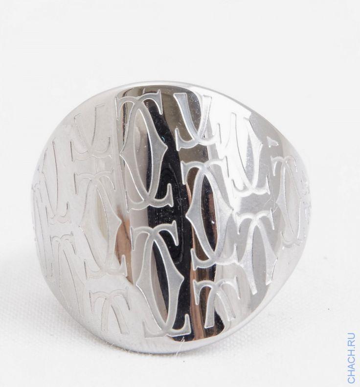 Кольцо Cartier широкое цвета белого золота