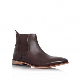Kurt Geiger | EDDIE Brown Flat Chelsea Boots by KG Kurt Geiger
