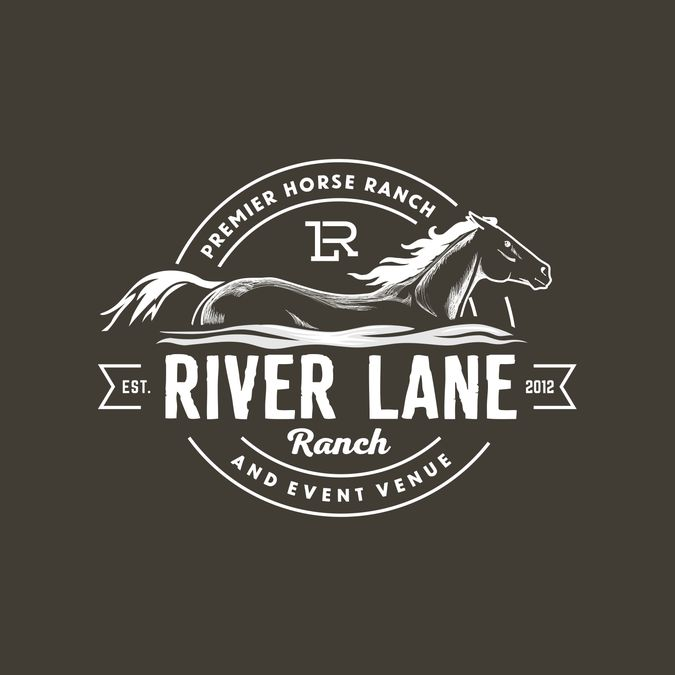 Stylish and unique logo for horse ranch by esfanta