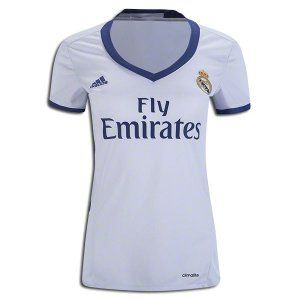 Real Madrid Women's Home Jersey 16/17 Real Madrid added another chapter to the club's incredible history with an 11th Champions League trophy in 2016. adidas honors years of success with the home jersey, white combined with Real Madrid's traditional secondary color purple for the first time since 2007/08. Inspired by the first jersey worn in 1902, the jersey has purple adidas stripes on the sides, sleeves, and on the buttons panel.