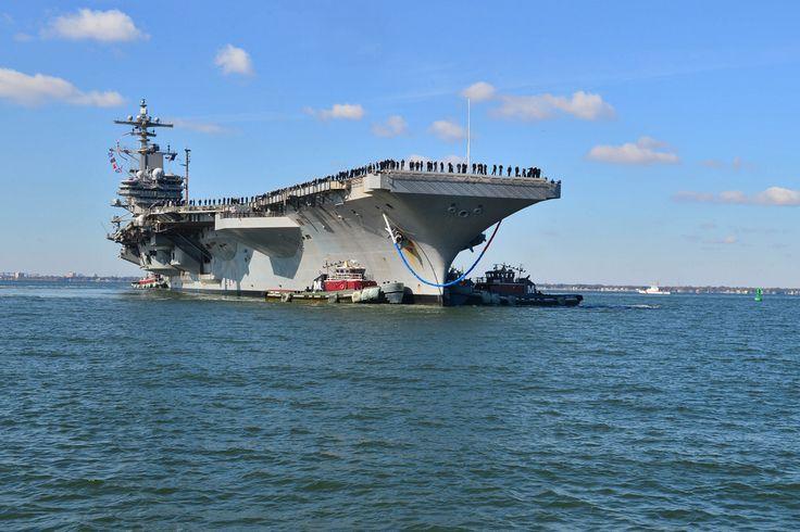 USS George H.W. Bush (CVN 77) returns to homeport at Naval Station Norfolk.