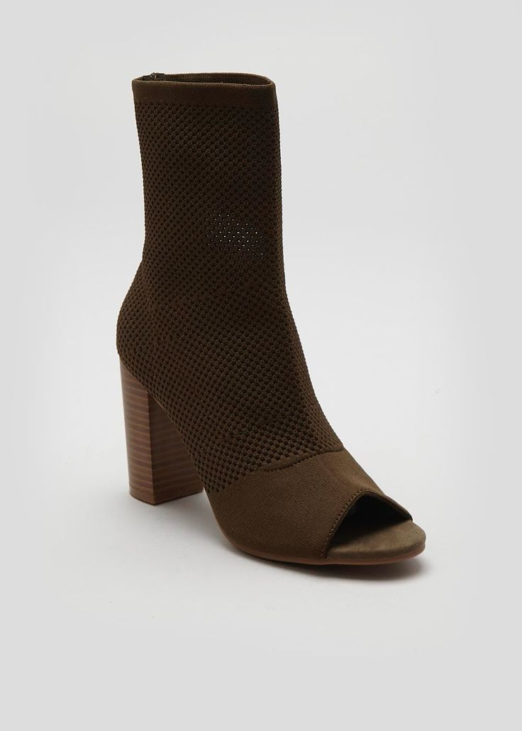 Stretch Peeptoe Shoe Boot