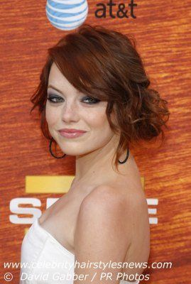 Wedding hair idea on Emma Stone.