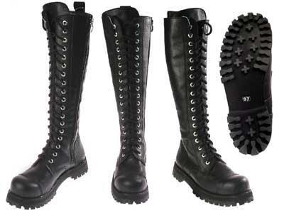 Высокие ботинки на шнуровке купить
